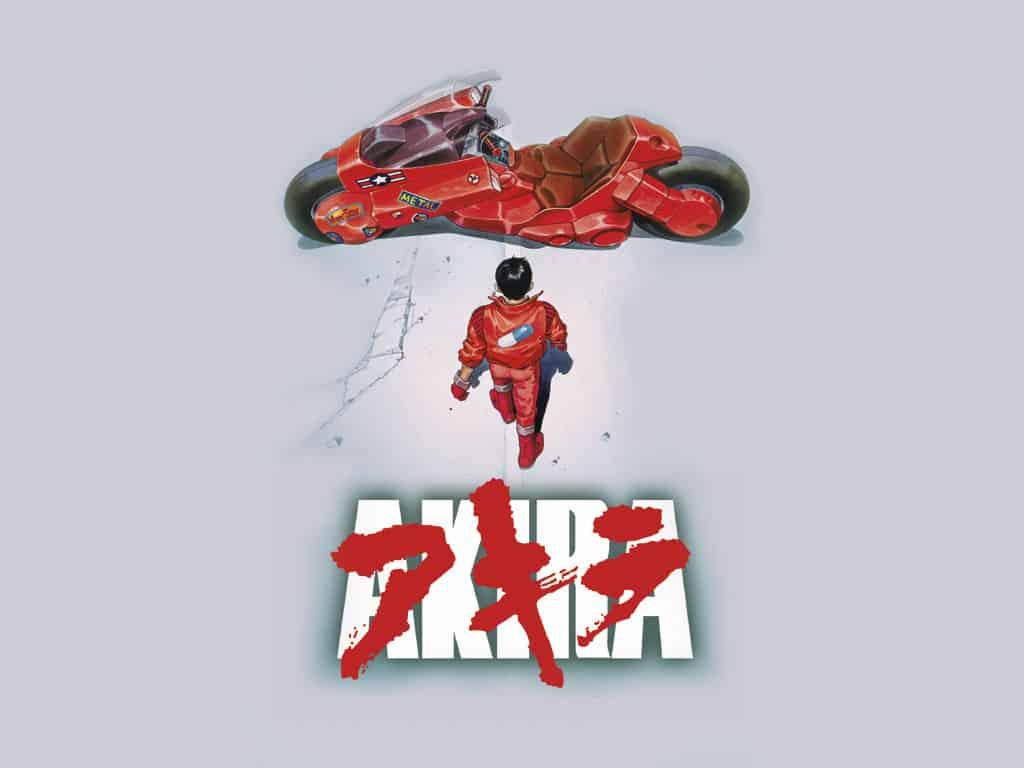 Portada de Akira, película de anime de Katsuhiro Otomo.