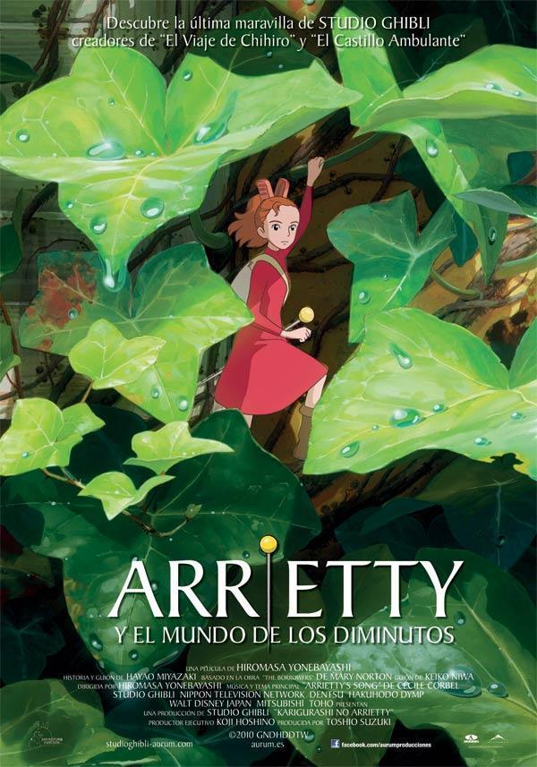 Portada de Arrietty en el mundo de los diminutos, en español