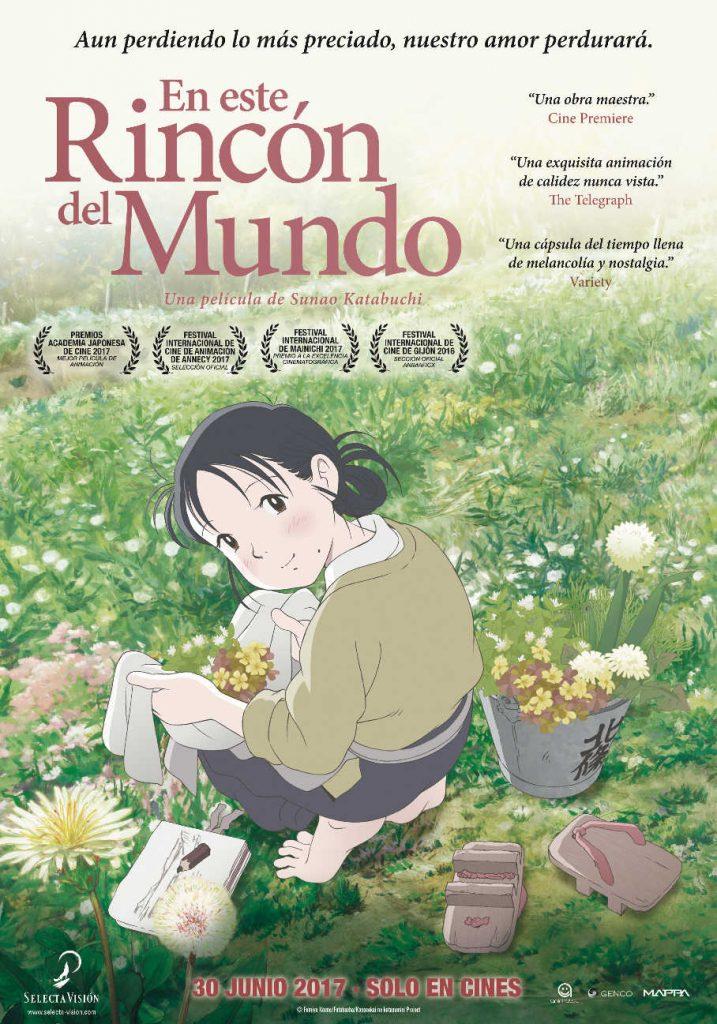carátula de la película de anime En este rincón del mundo, de Sunao Katabuchi